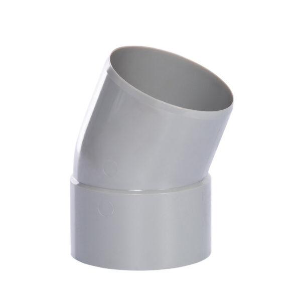 Pipelife hwa bocht 22°, pvc, inwendig lijm x spie, grijs, 80 mm foto leverancier